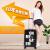 ネット紅insスーツケース潮個性カスタムパターン欧米落書きTSAロックにスツーケを搭載した360°カラスタスーツケース男女大学生スーツケースシンプル英ブラック20インチ