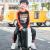 Miyoスーツケース子供スッキ360°キャバクタ旅行箱パンダキャラクター立体皮箱可愛い赤ちゃん20インチ男の子機内持込みみ可女性TSAロック搭載箱黒と黒(生涯無料保証)20インチ-直接搭乗できます(大人子供用)