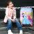 Dispneyディズニーキッズスポーツ女性スーツケース360°キャバクタ機内持込可爱いキャラクタースーツケース三姫20センチーピンクDSGZ-1708-0002-03