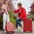 米煕高顔値円形スーツケース360°キャタシースポーツ小清新学生スーツケース女性機内持ち込み20センチー復古可能赤磨き砂防除M 9235