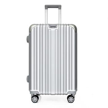 彬尚斯ーツケス女性スーツケース男性机内持ち込み可20/22/24/26センチ旅行箱360°キャクター学生TSAロック、箱皮箱プレゼント箱カスタム印logo银色20センチ-机内持ち込み可-出张-短途旅行