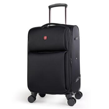 CROSGEARスイス军士刀斯スポーツ男子20/24/28センチ张旅箱女皮箱布箱机内持込込可持张拡张阶级スーツケース黒24センチ【託送は7-10日の长距离旅行に适します】